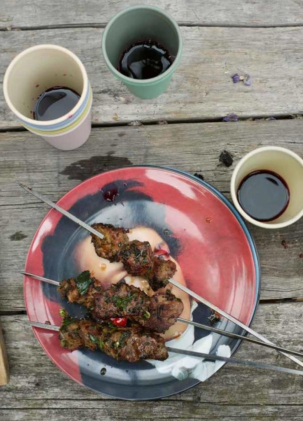 Recept: Lamsspiesjes met muntchumichurri   (uit besproken boek)