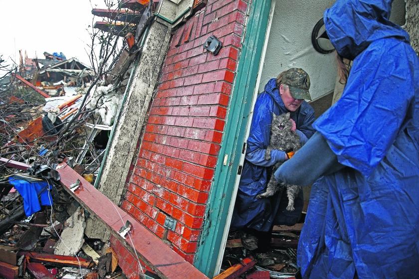 Fotoverslag: ruim veertig doden door extreem weer VS  (ap)