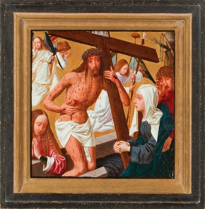 Geertgen tot Sint Jans, Man van smarten, ca. 1490, 0lieverf op hout, 24,5 x 24 cm,  Museum Catharijneconvent   (catharijneconvent)