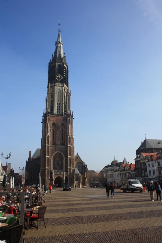 De statige Nieuwe Kerk van Delft.   (Arjan Glas)