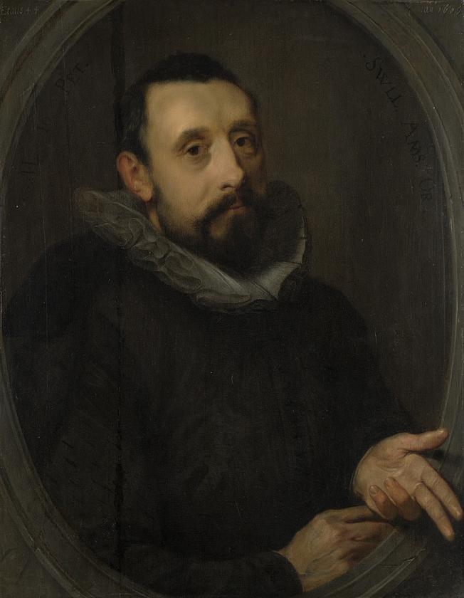 Een portret van Jan Pieterszoon Sweelinck, waarschijnlijk gemaakt door zijn broer Gerrit.   (wikipedia)