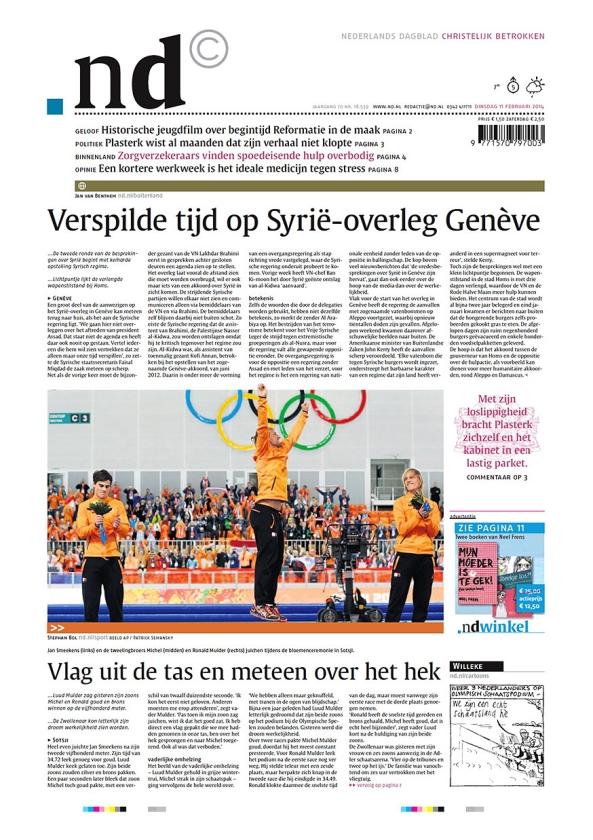 Met de kennis van toen: Over sport in het Nederlands Dagblad, alleen als het nieuws is   (nd)