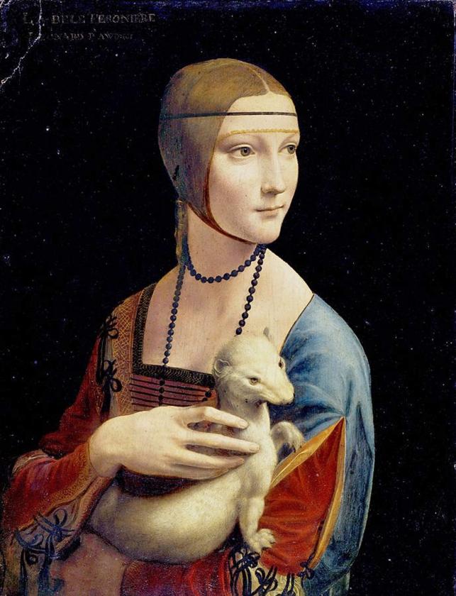 De dame met de hermelijn, tijdens de oorlog door de nazi's geroofd, maar in 1945 teruggevonden en gerestitueerd.   (wikipedia)