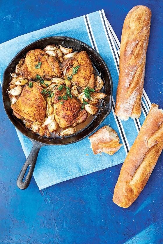 Recept: kip met 40 tenen knoflook   (nd)