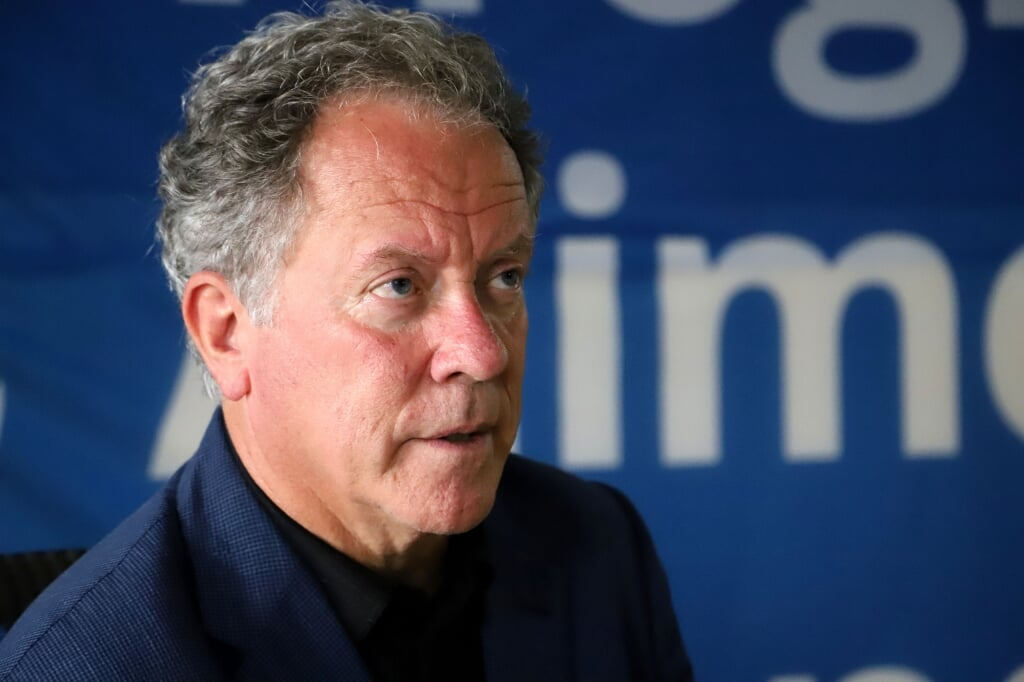 2020-10-09 14:25:04 David Beasley, Executive Director of the World Food Programme (WFP), is seen at the WFP headquarters Niamey on October 9, 2020.  Souleymane Ag Anara / AFP  (beeld Souleymane ag Anara / afp)