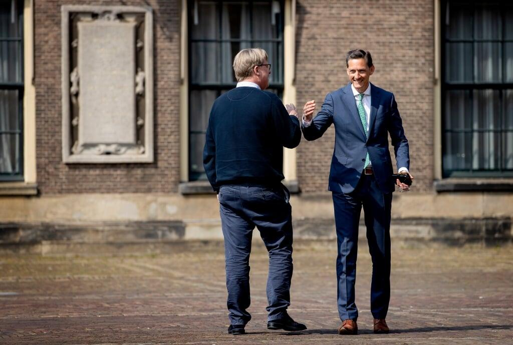 DEN HAAG - Joost Eerdmans, fractievoorzitter van JA21, komt aan voor een tweede gesprek met informateur Herman Tjeenk Willink. ANP KOEN VAN WEEL  (beeld Koen van Weel)