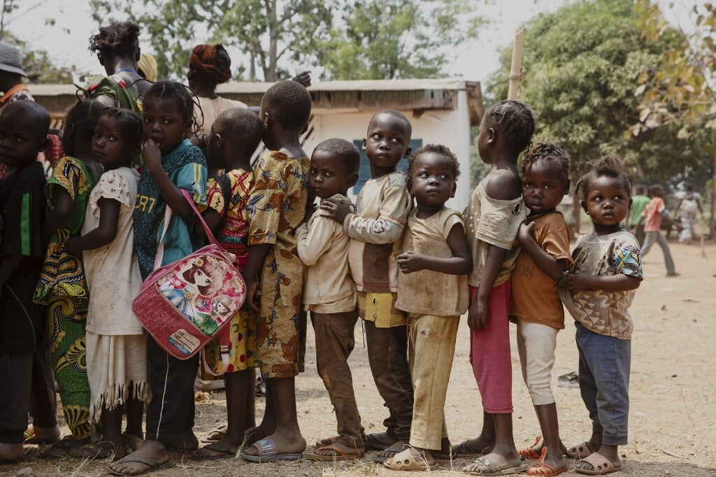 Kinderen in de Centraal Afrikaanse Republiek  (beeld epa/Adrienne Surprenant)