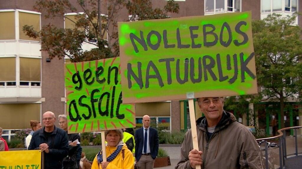 Liefhebbers van het Nollebos lieten de gemeente Vlissingen weten dat zij niets voelen voor een uitgebreide verbouwing van het gebied.  (beeld omroep zeeland)