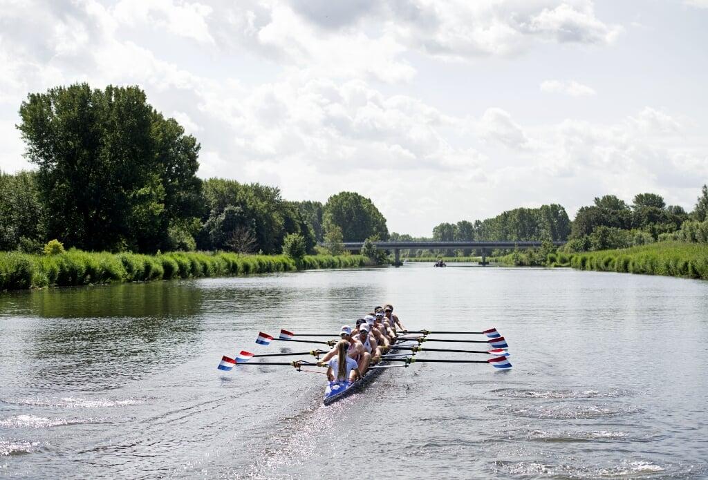 2020-06-22 10:16:10 ALMERE - De Holland Acht start weer met trainen, na een periode van aangepaste trainingen en een korte vakantie. ANP OLAF KRAAK  (beeld anp / Olaf Kraak)