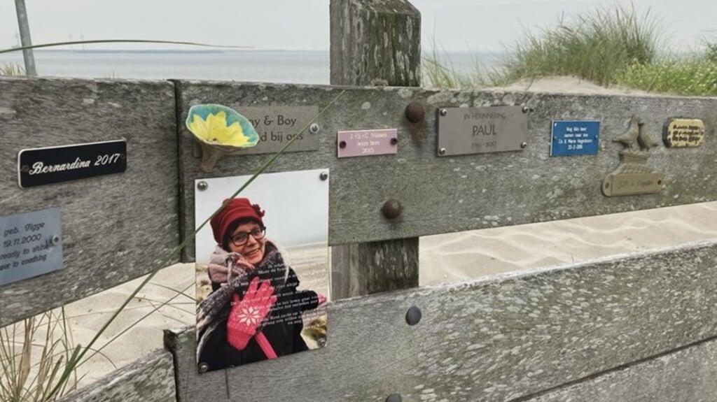Naast plaatjes met namen en teksten, komen er ineens steeds meer foto's bij op de spontane gedenkplek in Westenschouwen.  (beeld omroep zeeland)
