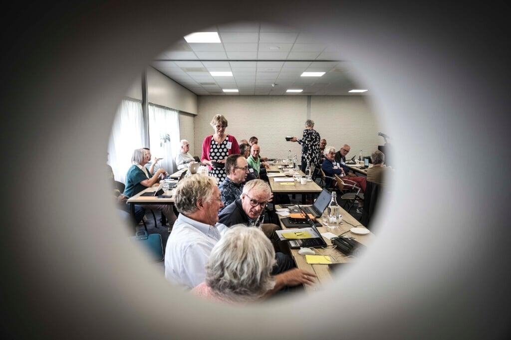 synode / landelijke vergadering van Gereformeerde Kerken vrijgemaakt en de Nederlands Gereformeerde Kerken  (beeld Carel Schutte)