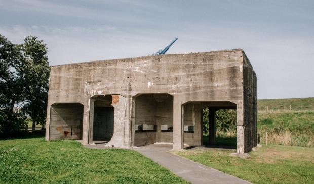 <p>Batterij Fiemel, restanten van bouwwerken van de Duitse bezetteres bij Termunten.</p>