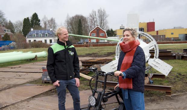 Anniek Pheifer bezoekt voor het programma diverse bedrijven in Groningen.