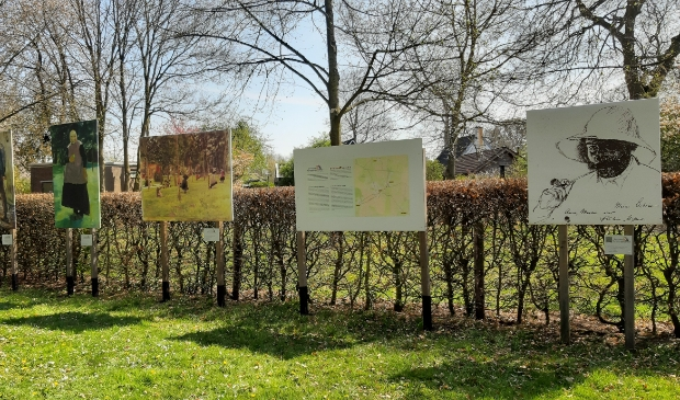 <p>Een aantal schilderijen die deel uitmaken van de Brinkenexpositie.</p>