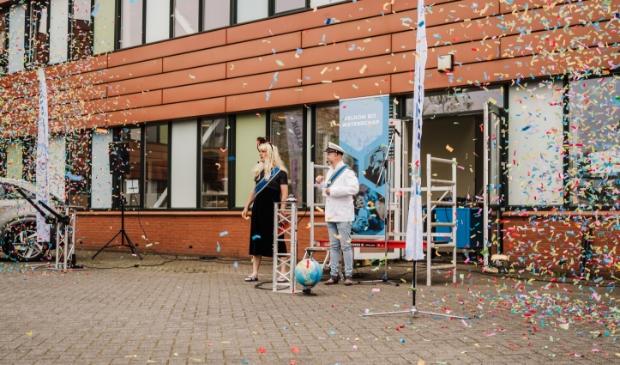 <p>Het &#39;koninklijk paar&#39; opende de Wetenschapsdag op het Theda Mansholt College. Foto: Emily Rosalia.</p>