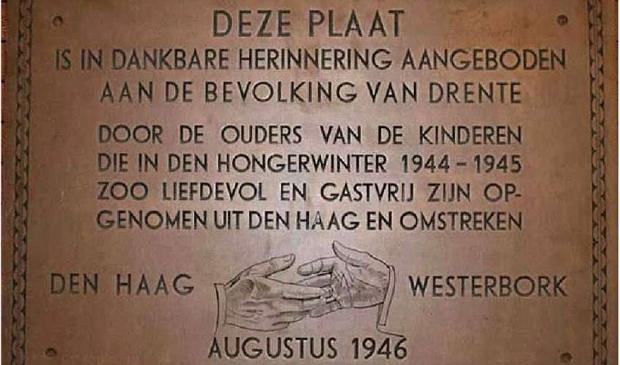 <p>De verdwenen gedenkplaat (foto HVW).</p>