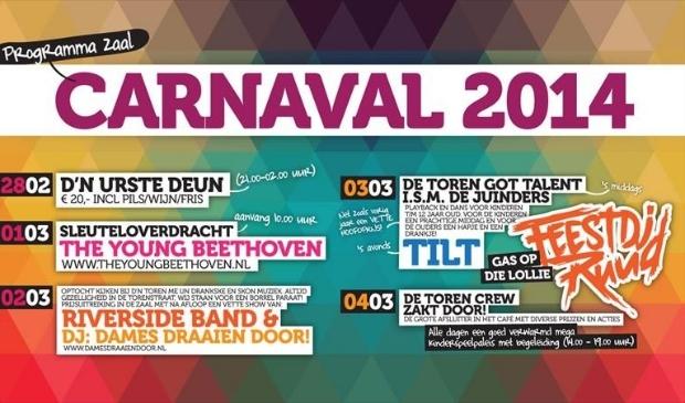 Carnaval 2014 is 'ROCK 'N ROLL bij De Toren!