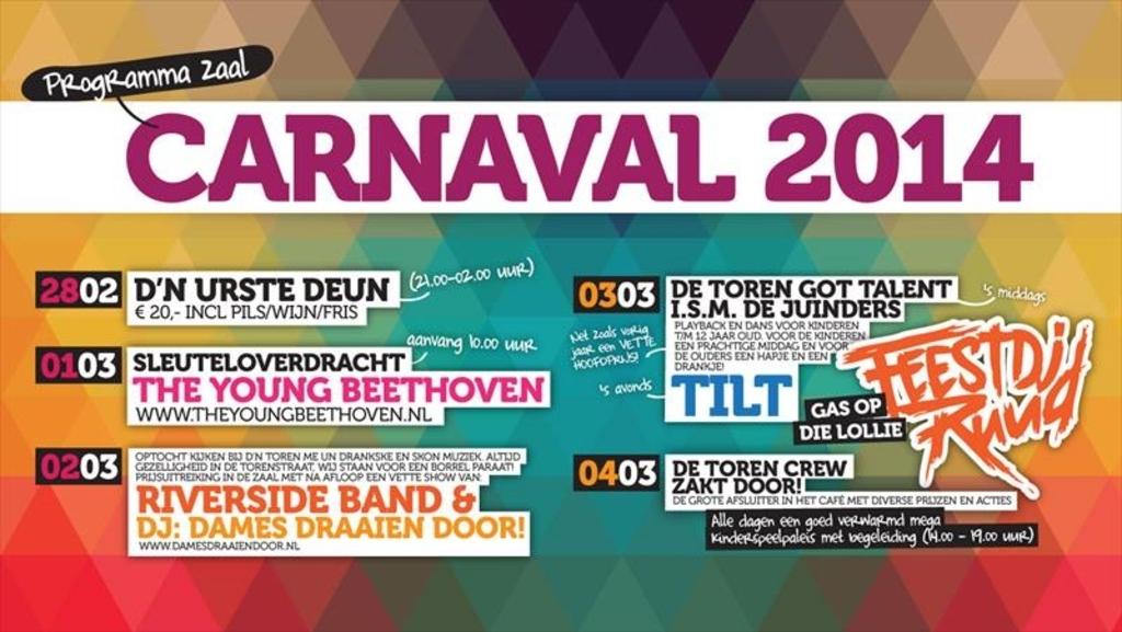 Carnaval 2014 is 'ROCK 'N ROLL bij De Toren! Foto:  © mooibernheze