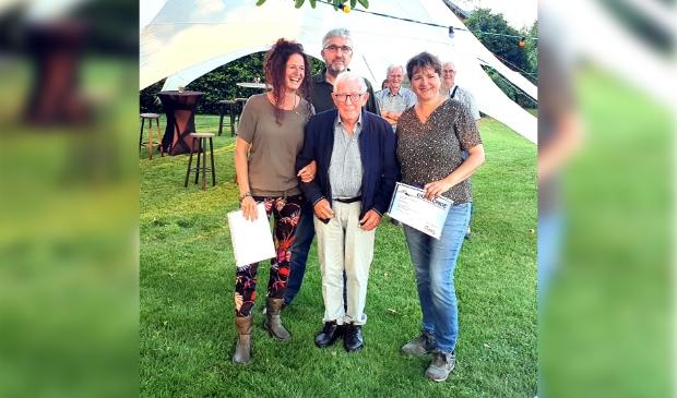 Van Links naar rechts...Elle van der Zanden, Bert van der Pas, Frank Geenen, Sandra de Wit)
