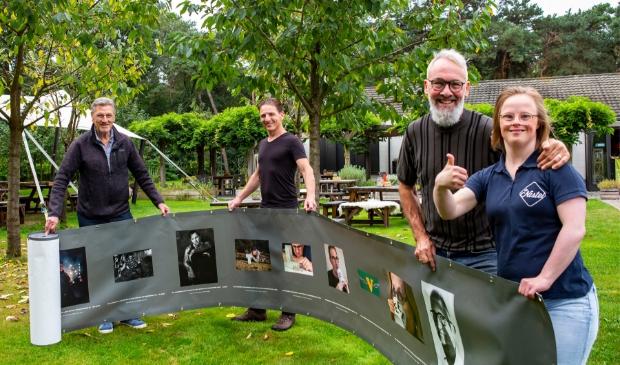 V.l.n.r.: Marcel, Paul, Wim en Judith