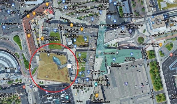 <p>het blok van V&amp;D (Foto: Google Maps)</p>