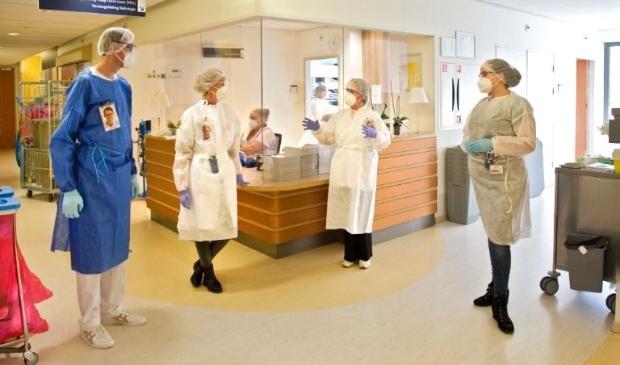 <p>Alle hens aan dek in het Flevoziekenhuis. (Foto: aangeleverd)</p>