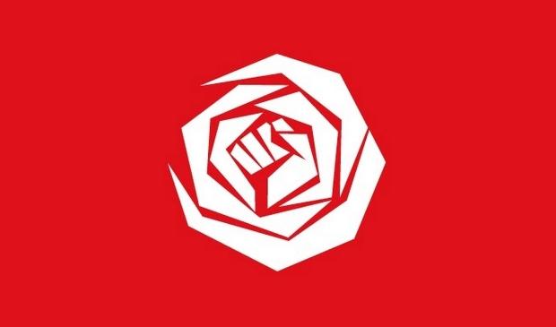 Het logo van de PvdA