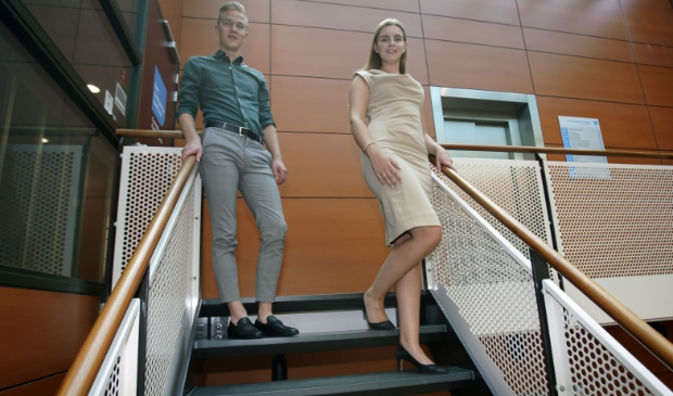 <p>Merwin Zijlsma en Suzan de Jongste. (Foto: Fred Rotgans)</p>