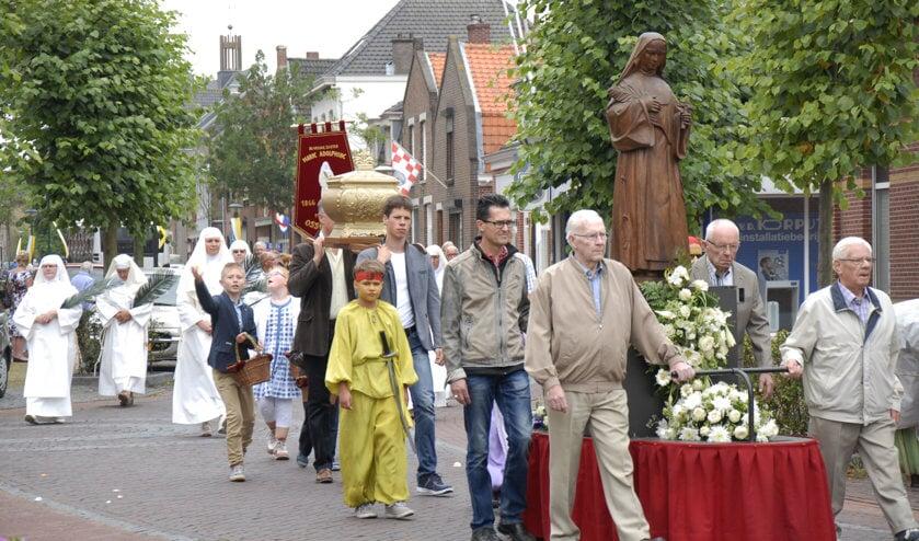 Dit jaar gaat de processie ter ere van Marie Adolphine niet door.
