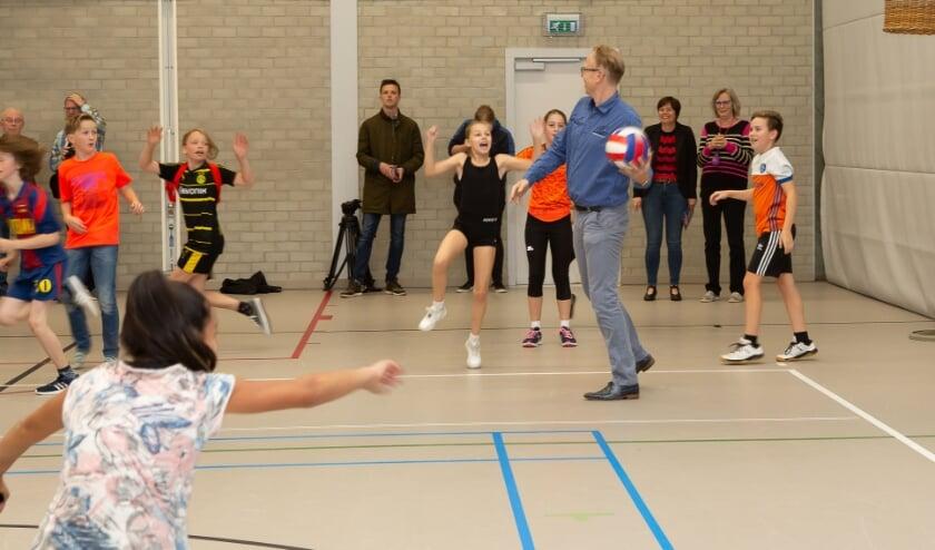 <p>Als het kan sport wethouder Lars van der Beek ook even mee.</p>