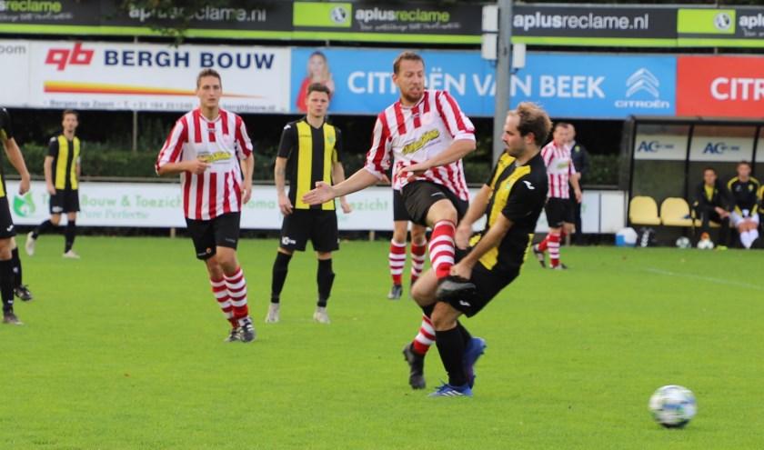 Halsteren zaterdag in een thuiswedstrijd op Sportpark de Beek.