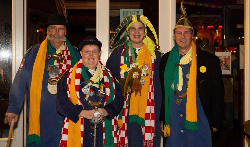 V.l.n.r. Grwootste Boer Theodoor, Garde Looike de 4e, Nar Crammeke en Prins Fon 1e.