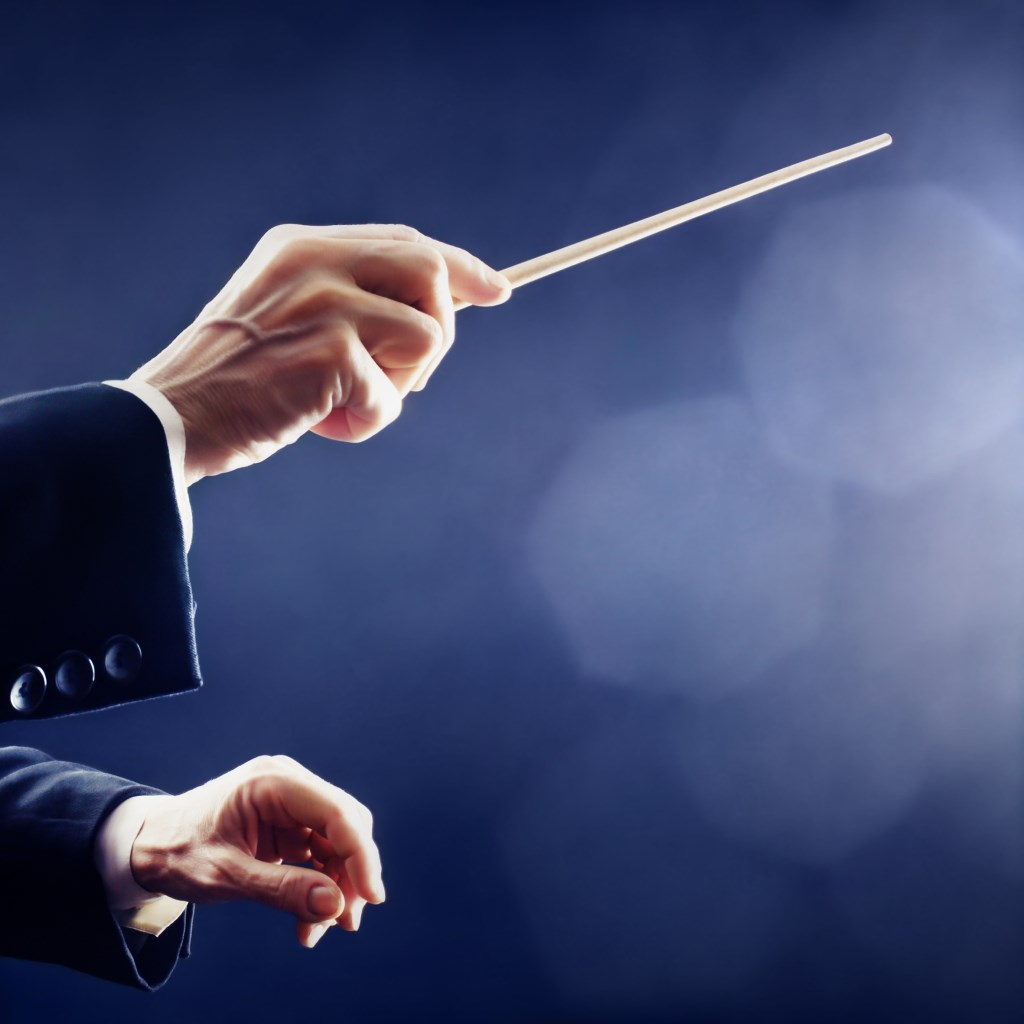Music conductor hands orchestra conducting Foto:  © Minerve Pers