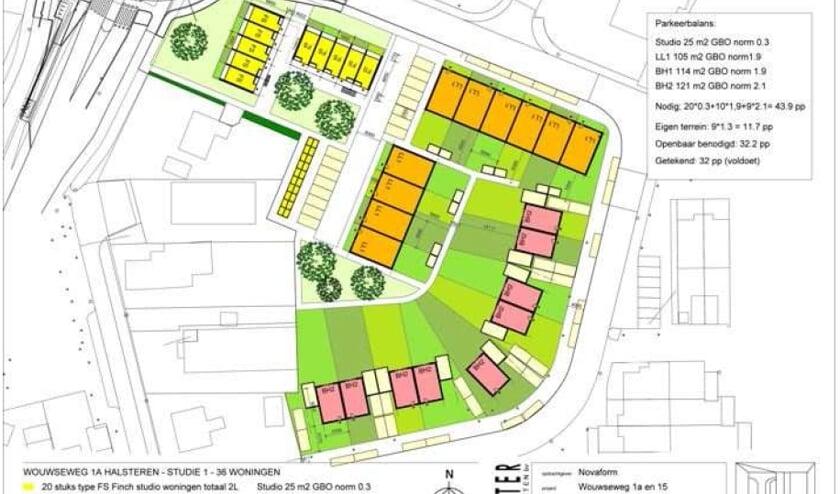 Het nieuwe plan voor het Zuneha-terrein op de hoek Wouwseweg.