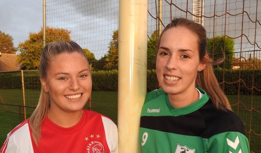 Amber van Pul en Andrea Colpaart (rechts).