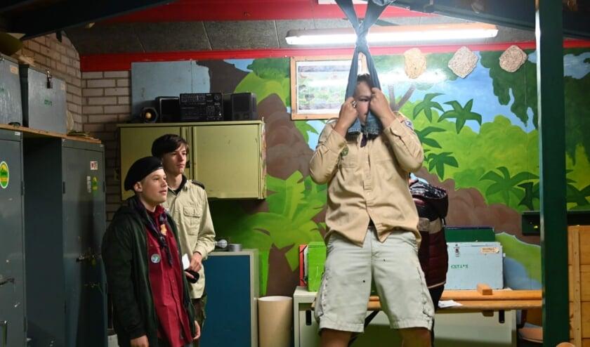<p>Een activiteit tijdens een kijkdag bij Scouting Ossendrecht</p>