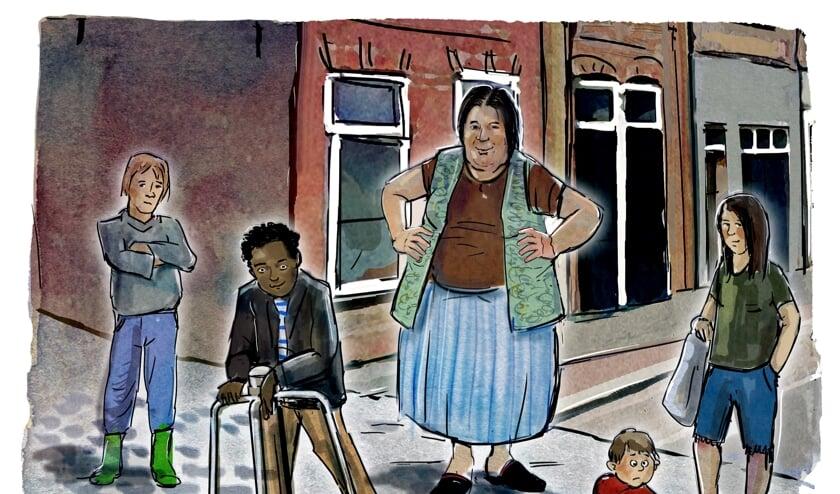 <p>Tante Sjaan in beeld gebracht door illustrator Eric Elich.</p>