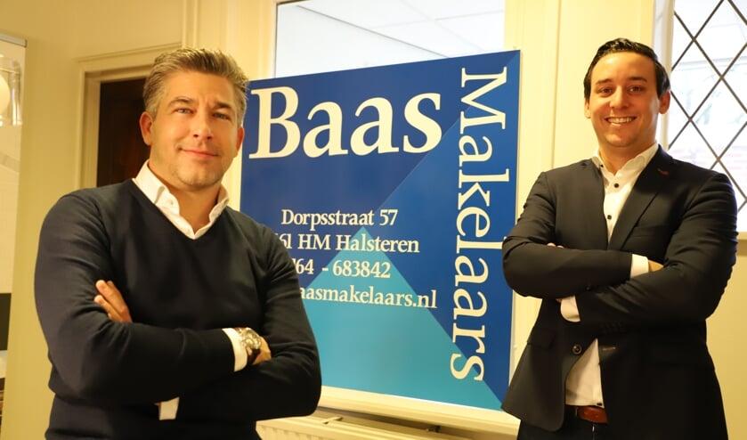 <p>Michel Weijts en Rob van Elsakker van Baas Makelaars.</p>