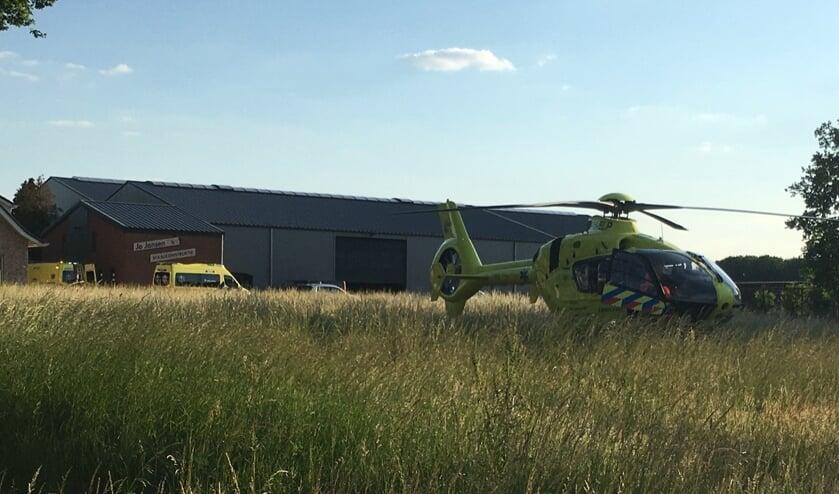 De traumahelikopter moest eraan te pas komen bij een ongeval met een quad aan Hageland in Ossendrecht.