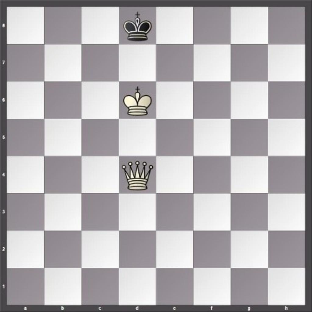 Links wint wit via Dh8 en het is schaakmat. Foto:  © Minerve Pers