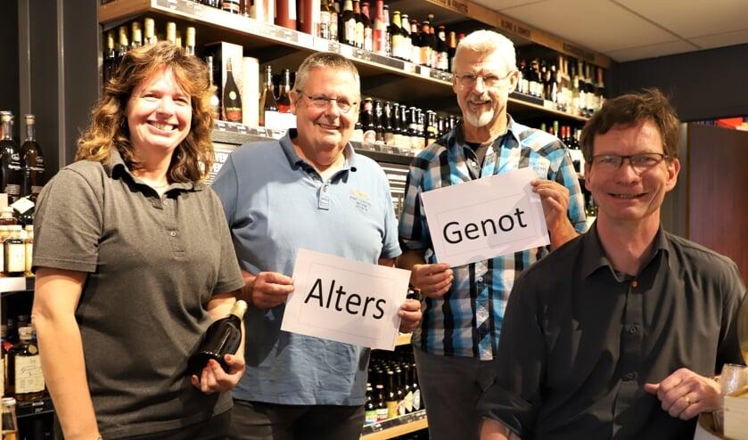 Van links naar rechts: Dianne Kessel, Frans Bosters, Aat van den Berg en Raymond Kessel.