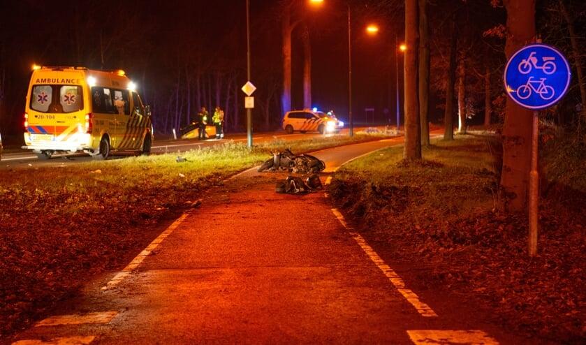 Ernstig ongeval scooter en auto op Putseweg