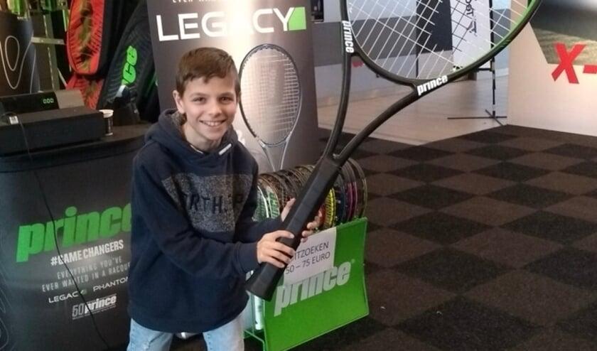 <p>Aaron, 12 jaar, van TV Mattemburgh.</p>
