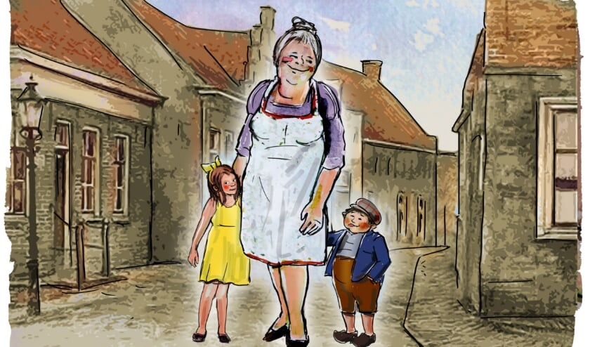 <p>Moeder in een tijd die nostalgie en vooral bewondering oproept. (Tekening: Eric Elich). &nbsp;</p>