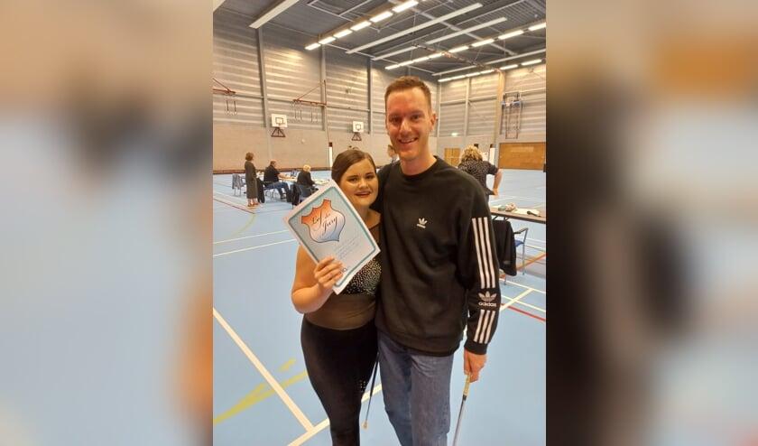 <p>Evelien Jacobs en Dennis van Re-Creation.</p>