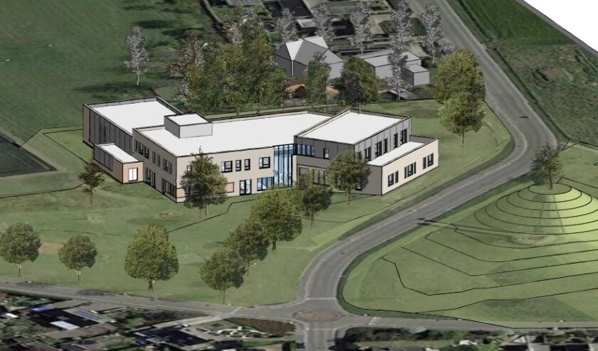 Ontwerp van het nieuwe Integraal Kindcentrum in Woensdrecht.