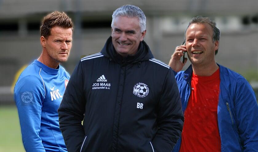 Niels van Casteren, Bert Ruijsch en Dennis Dekkers (vlnr) gaan alledrie bij een andere club aan de slag (collagefoto Peter Kuijpers).