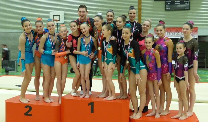 De Brabantse kampioenschappen acrobatische gymnastiek vonden dit weekend plaats.