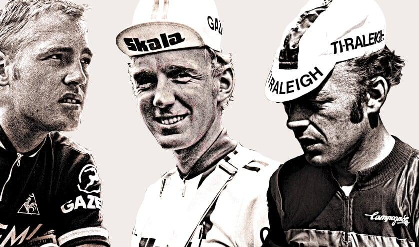 V.l.n.r.: Jan, Fons en Piet van Katwijk, die als renner zijn brood verdiende bij de legendarische Ti-Raleighploeg van Peter Post.