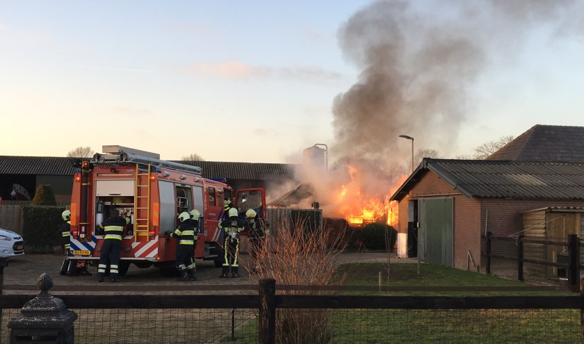 Tuinhuisje brandt af in Mill. (foto: SK-Media)